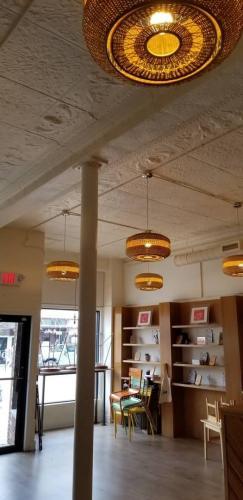 Interior showing original 1912 tin ceiling
