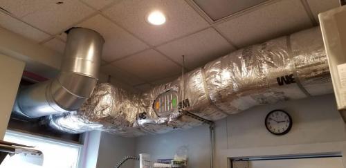 Exhaust fan ductwork